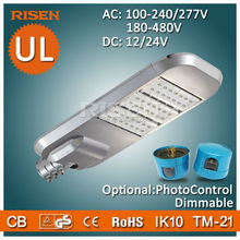Risen DLC UL CE RoHS 5 Years Warranty Led Parking Lot, Daylight Sensor solar power street light