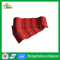 self cleaning red uv-protected pvc roof tile five waves with high quality
