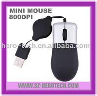 usb mini retractable mouse high quality
