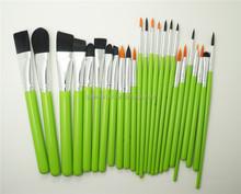 Green Custom Nail Art Brush Professional Makeup Brush Set Makeup Artist