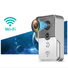 Wifi wireless smart door bell IP peephole camera,Night Vision/take photos/PIR detection/Remote open door