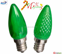 green led holiday festival light decorations C7 candle bulb christmas PC waterproof