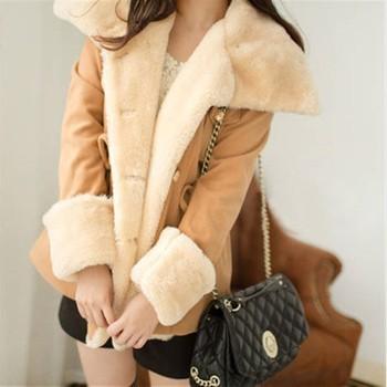 Зимние теплые куртки женщин шерсти тонкий двубортный шерсти пальто зимние куртки женские пальто куртки новых l494