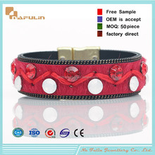 Newest Hot European jewelry Magnetic Leather Bangle Horse Hair Six Color Charm Bracelet