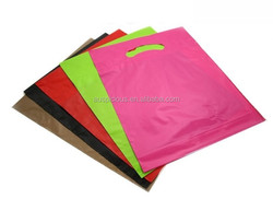 Hot sale popular punching hole plastic shopping bags