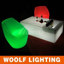 modern life remote control led bar table with cooler