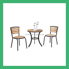 wrought iron import wood outdoor table set