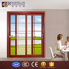 ROGENILAN 80# french luxury modern sliding front aluminium glass house door