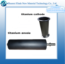 Titanium anode for copper electrowinning and metal extraction