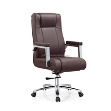 Luxury Brown Chairman Button Tufted Leather Executive Office Chair ZM-A289