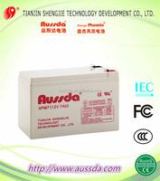 12V Nominal Voltage Lead acid sealed Battery 7AH
