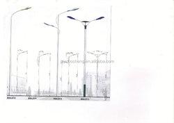 Single Arm Double Arm Street Lighting Steel Poles