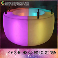 Guarantee High Quality Bar Furniture Modern LED Bar Counter Design Factory Direct Wholesale LED Round Bar Counter