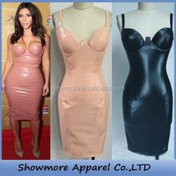 Style Number W390 pink pencil dress sweet heart mid-calf Strapless kim kardashian celebrity dresses