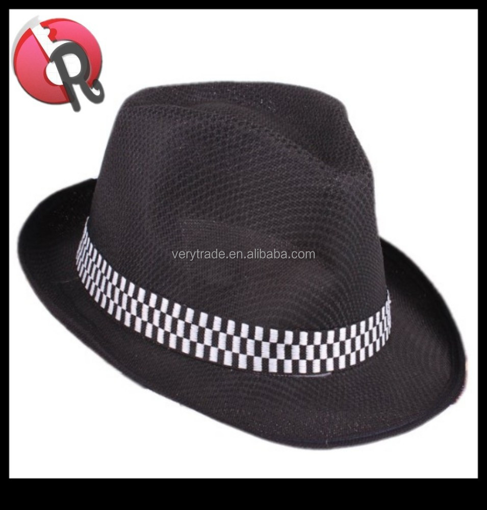 Bucket Hats Black And White Polyester Bucket Hat Black