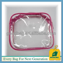 pvc cosmetic bag for duvet packaging with zipper