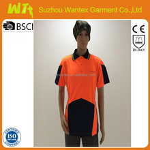 high quality mens work shirt custom safety hi vis work shirt
