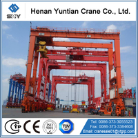 Port lifting container cranes, 40t rubber tyre gantry cranes, straddle carrier