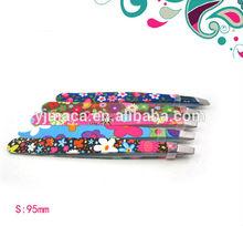 colorful pattern stainless steel tweezers