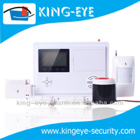 LCD display Burglar system wireless 433mhz home security alarm picture gsm