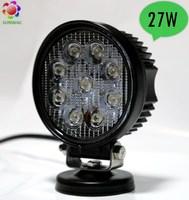 Super bright 12V LED work light, aluminum housing 27W LED work lights, truck jeep offroad tractor SUV boat LED headlights