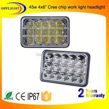 Factory directly 45w car headlight 3w/pc high low auto led for truck offroad 4x4 j eep atv utv