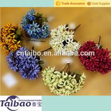 Decoración de la flor artificial 6 cabezas lirio de flores de seda artificial