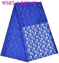 WS85-4 super chemical lace cord lace in royal blue with perfect design