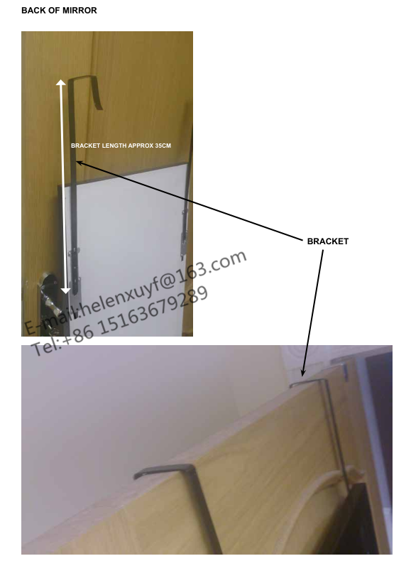 Pas cher 30x120 cm en plastique encadr e sur la porte for Miroir 40x150