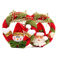 Popular Fashion Christmas Santa Claus Ornaments Festival Party Xmas Wreath Tree Door Hanging Decoration Lovely Gifts