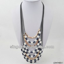 Multi-strand beaded landing necklace fashion costum jewelry summer product for 2014