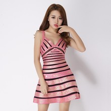 one piece short fashion sexy evening dress for seniors