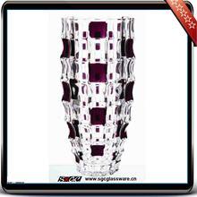 purple colored glass vases wholesale