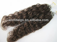 Wholesale factory price micro ring hair extensions/micro loop hair extensions,100% remy human hair