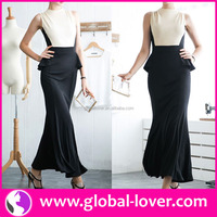 Best quality two tone sleeveless shawl for evening dress