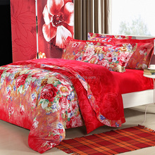 Floral pretty colorful 100% polyester bed sheets