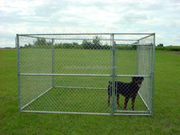 big dog use metal welded chain link wire out door dog kennels cages/black pen kennel dog park
