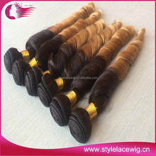 Double Drawn Brazilian Human Hair Extensions wine colored weave hai