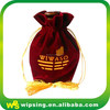 Custom luxury velvet jewelry drawstring bag with logo
