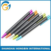 Hot Design Nail Ball Point Pen White Plastic Barrel Color Rubber Grip Ball Pen