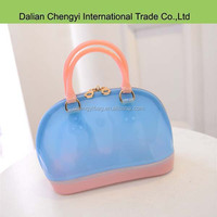 Fashion nontoxic lovely girls shell shaped silicon tote bag