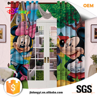 High quality hot selling fancy 3d fabric curtain