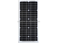 Monocrystalline Silicon Material and can be OEM or see details Size 12v 25w solar panel SFPS033