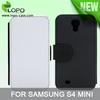Custom design Sublimation leather flip cover for Samsung galaxy S4 mini