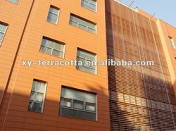 White composite ceramic for facade clading