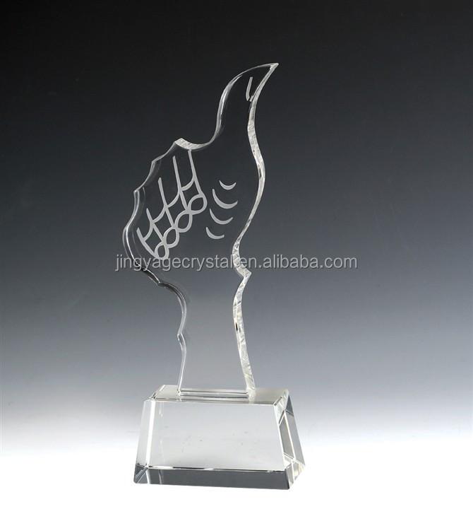 Hand Crystal Trophy