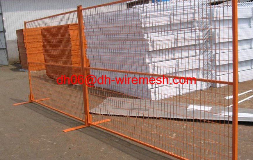 Anping galvanzied welded wire mesh temporary fencing for Easy fence installation