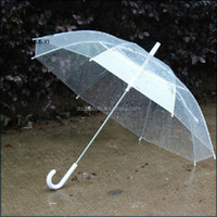 2015Customized PVC transparent advertising umbrella , wholesale 21inch 8K Transparent umbrellas