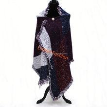 Latest Poncho With tassel Scarf Shawl blanket Poncho Scarve Wrap knitted poncho
