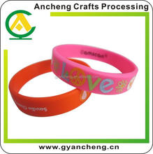 Promotion custom fashion france flag silicone bracelet for promotional gifts